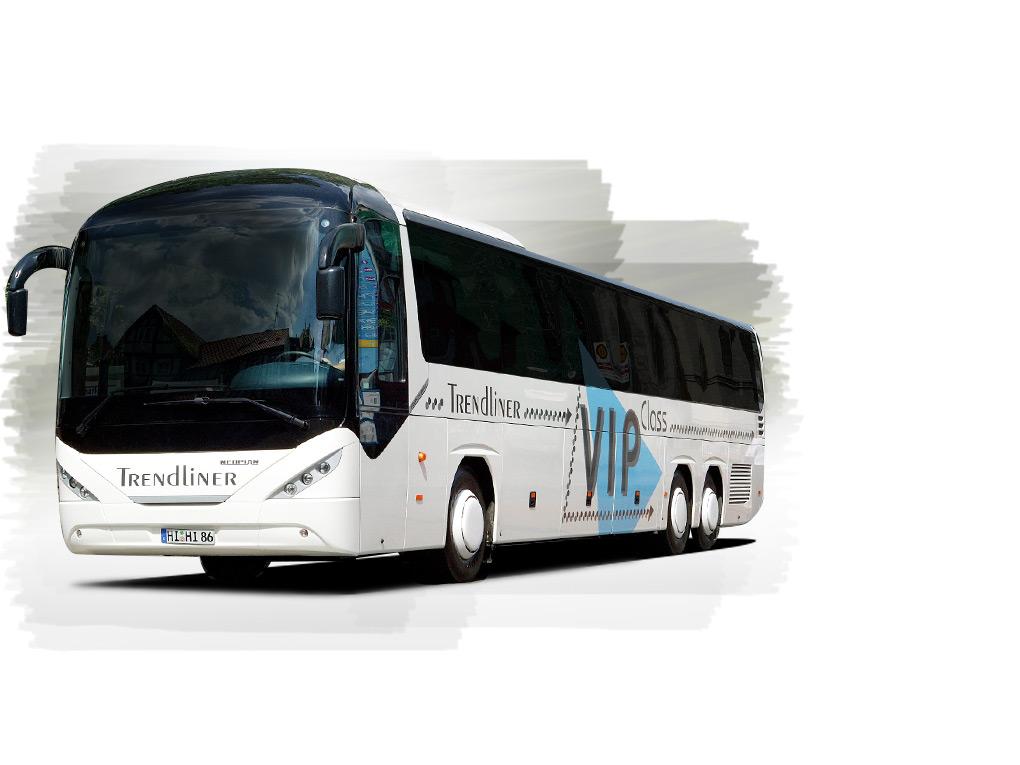 Der NEOPLAN Trendliner –  Premiumbus überzeugt mit seinem Design als Ein- oder Zwei-Achser