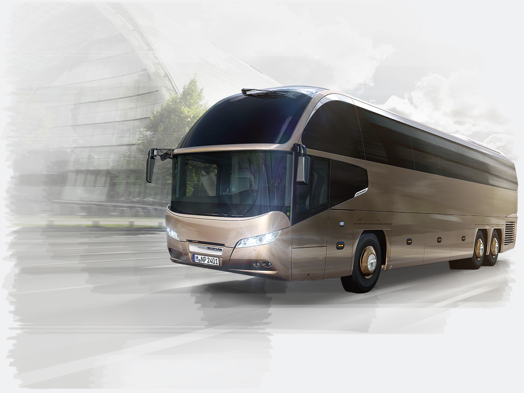 The NEOPLAN Cityliner – this premium coach has an impressive design and provides a high level of comfort