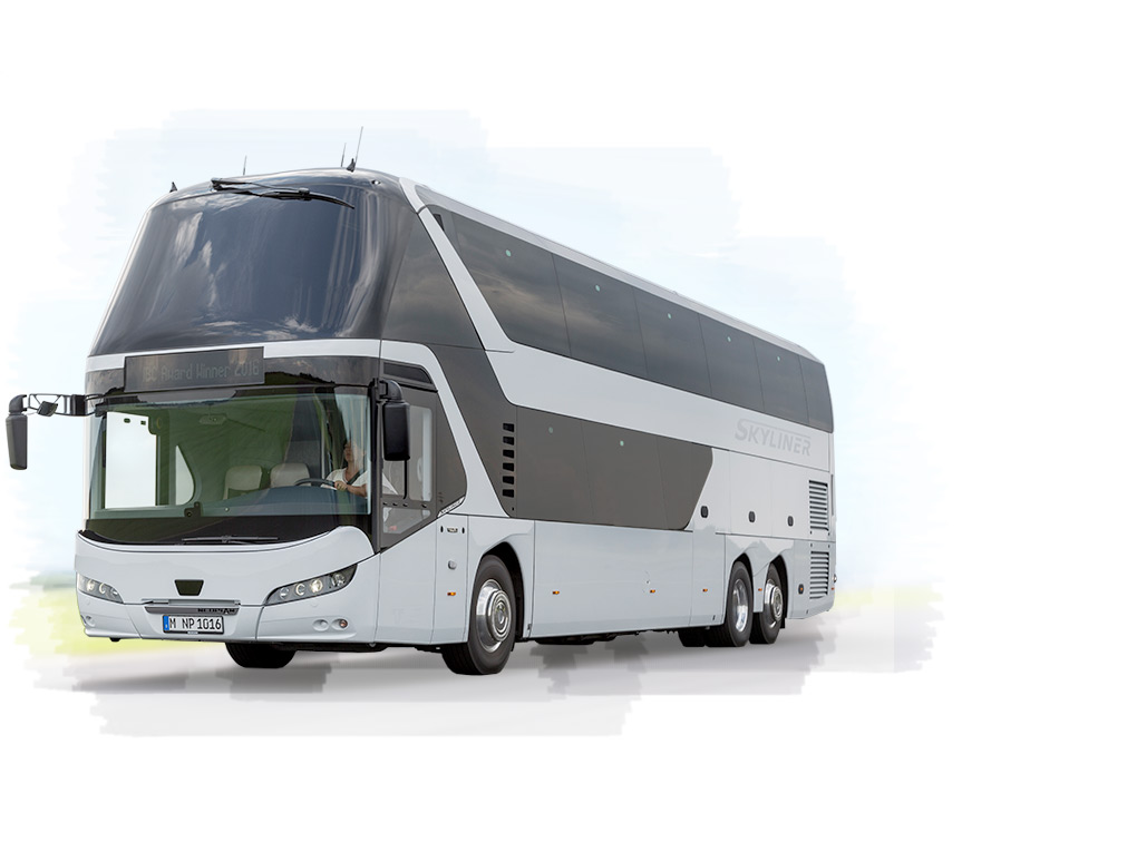 The NEOPLAN Skyliner – a comfortable double-decker that is also environmentally friendly out on the road